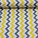 Хлопковая ткань (ТУРЦИЯ шир. 2,4 м) зигзаг желто-графитовый, фото 2