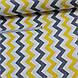 Хлопковая ткань (ТУРЦИЯ шир. 2,4 м) зигзаг желто-графитовый, фото 4
