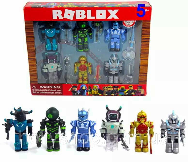"""Набор фигурок Roblox """"Рыцари в доспехах"""": 6 фигурок с предметами"""