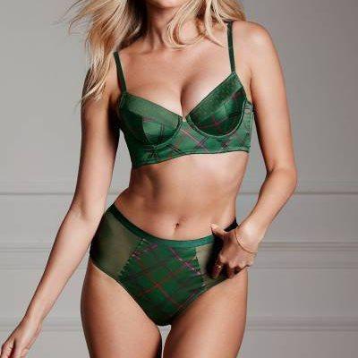 Комплект Белья Victoria's Secret Very Sexy Satin 85C/S, Зеленый