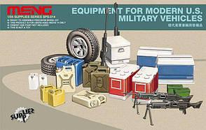 Набор экипировки для современной военной автомобильной техники США. 1/35 MENG SPS-014