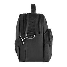 Мужская сумка Wallaby 36х26х16 ткань чёрный кринкл, ручка пластиковая  в 2653ч, фото 3
