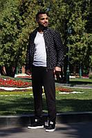 Костюм мужской из трикотажа с кофтой с принтом (К28859), фото 1