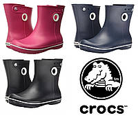 Сапоги резиновые женские короткие с кружочком Crocs Women's Jaunt Shorty Boot / дождевики полусапоги, фото 1