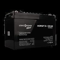 Аккумулятор кислотный AGM LogicPower LP 12 - 100 AH SILVER, фото 1