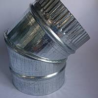 Отвод 45* d 315 мм из оцинкованной стали