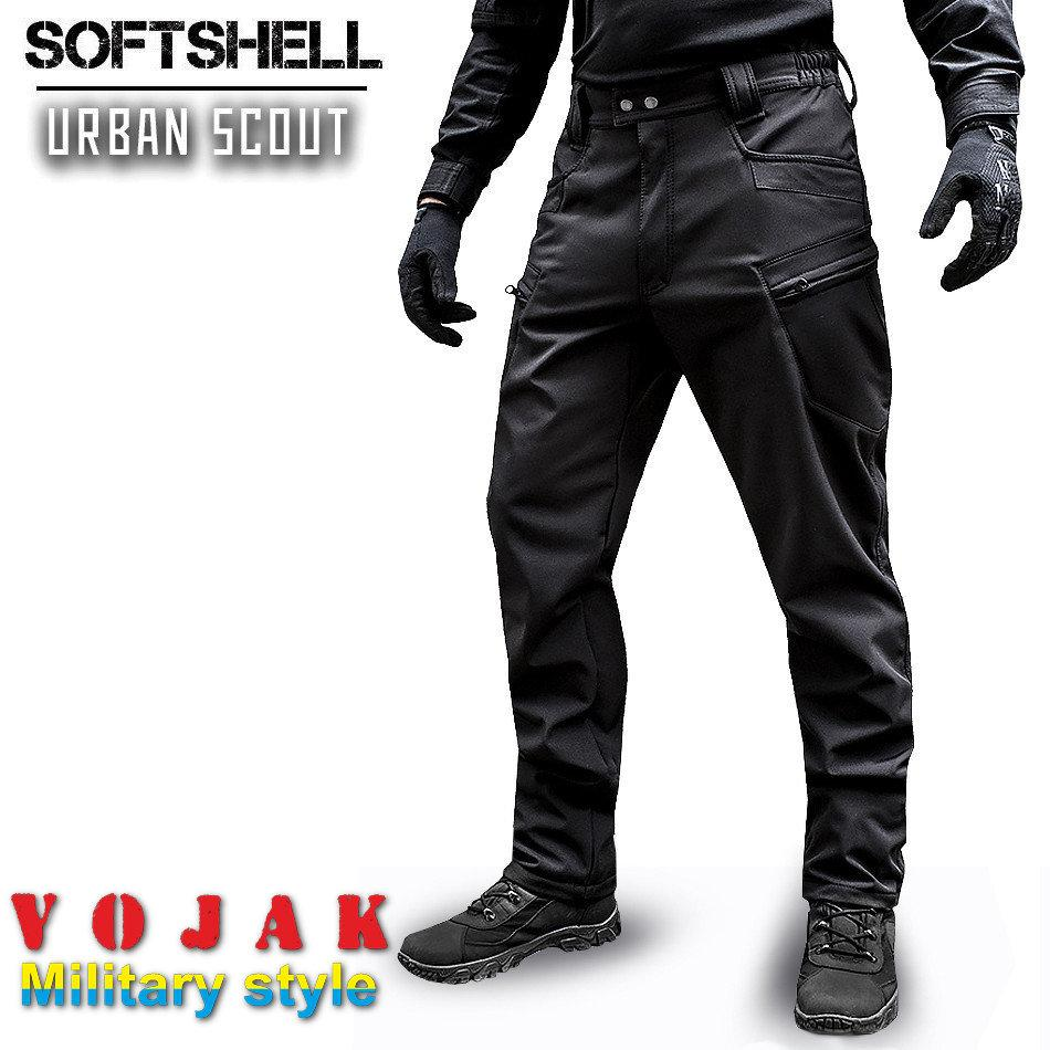 "Брюки SoftShell ""URBAN SCOUT"" BLACK"