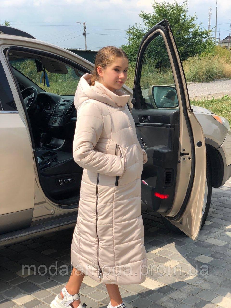"""Пальто  зимнее """"Алиса"""" для девочки - подростка ОПТОМ!, фото 1"""