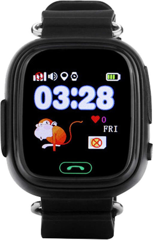 Детские телефон-часы с GPS трекером Smart Watch Q90 black