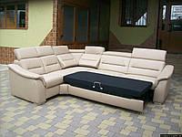 Новий шкіряний диван, розкладний (5320)