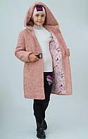 Пальто на девочку, пудровое. Только опт!!!!