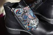 Кожаные ботинки с вышивкой Slip, фото 2