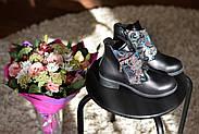 Кожаные ботинки с вышивкой Slip, фото 3