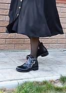 Кожаные ботинки с вышивкой Slip, фото 5