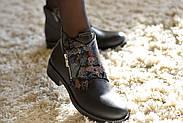 Кожаные ботинки с вышивкой Slip, фото 6