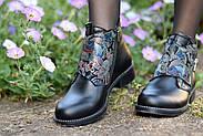 Кожаные ботинки с вышивкой Slip, фото 7