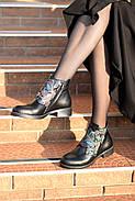 Кожаные ботинки с вышивкой Slip, фото 9