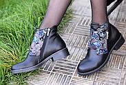 Кожаные ботинки с вышивкой Slip, фото 8