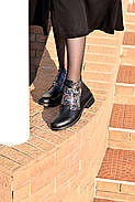 Кожаные ботинки с вышивкой Slip, фото 10