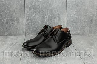 Туфли мужские Vankristi 280 черные (натуральная кожа, весна/осень), фото 2