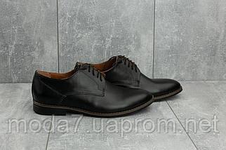 Туфли мужские Vankristi 280 черные (натуральная кожа, весна/осень), фото 3