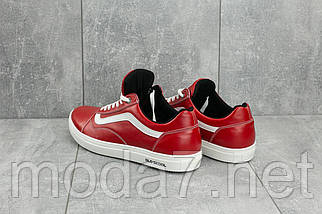 Кеды мужские CrosSAV 118 красные (натуральная кожа, весна/осень), фото 2