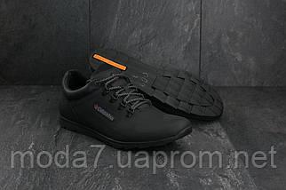 Кроссовки мужские Yavgor 600 черные (натуральная кожа, весна/осень), фото 3