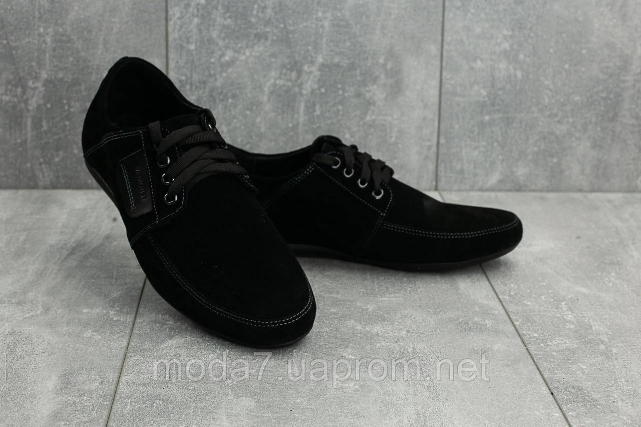 Мокасины мужские Vankristi 210 черные (замша, весна/осень)