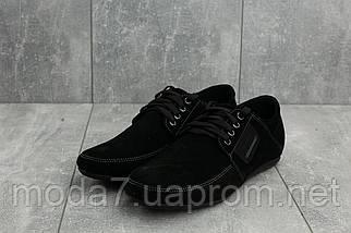 Мокасины мужские Vankristi 210 черные (замша, весна/осень), фото 2