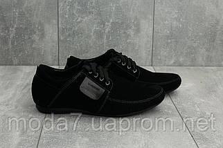 Мокасины мужские Vankristi 210 черные (замша, весна/осень), фото 3