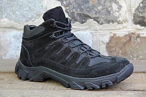 Тактические ботинки из натуральной кожи черного цвета демисезонные RZ 5154 - 1 - 2