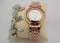Часы женские Pandora в коробочке (розовое золото/белый), фото 1