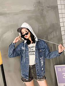 Модная джинсовая женская куртка