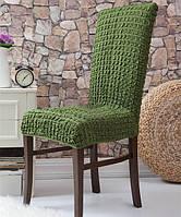 Набор чехлов для стульев Venera 6 шт 10-222 Зелёный (без оборок)