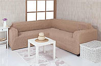 Чехол на угловой диван Concordia 08-211 Мокко без оборок