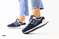 Женские кроссовки замшевые темно-синие, фото 1