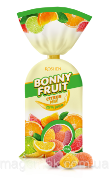 Желейные конфеты Bonny-fruit цитрусовый микс
