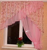 Кухонная штора Милана Розовый