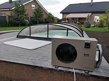 Тепловой насос для бассейна с павильоном