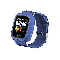 Детские телефон-часы с GPS трекером Smart Watch Q90 navy