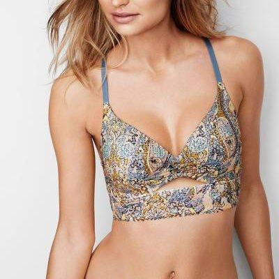 Бралетт Пуш-Ап Victoria's Secret Keyhole Push-Up 70B, Голубой