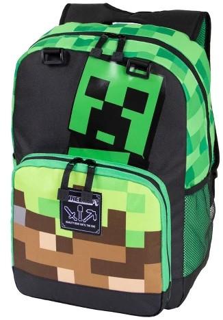 "JINX Minecraft Creepy Things Backpack 17"", Green"