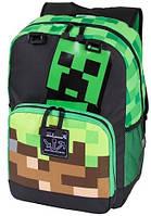 "JINX Minecraft Creepy Things Backpack 17"", Green, фото 1"