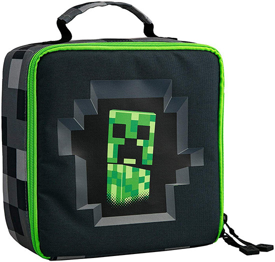 Ланчбокс JINX Minecraft Creepy Creeper Lunch Box, Gray