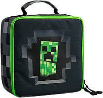 Ланчбокс JINX Minecraft Creepy Creeper Lunch Box, Gray