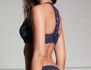 💋 Кружевной Бюстгальтер Пуш-Ап Victoria's Secret Very Sexy Push-Up 75С, Синий