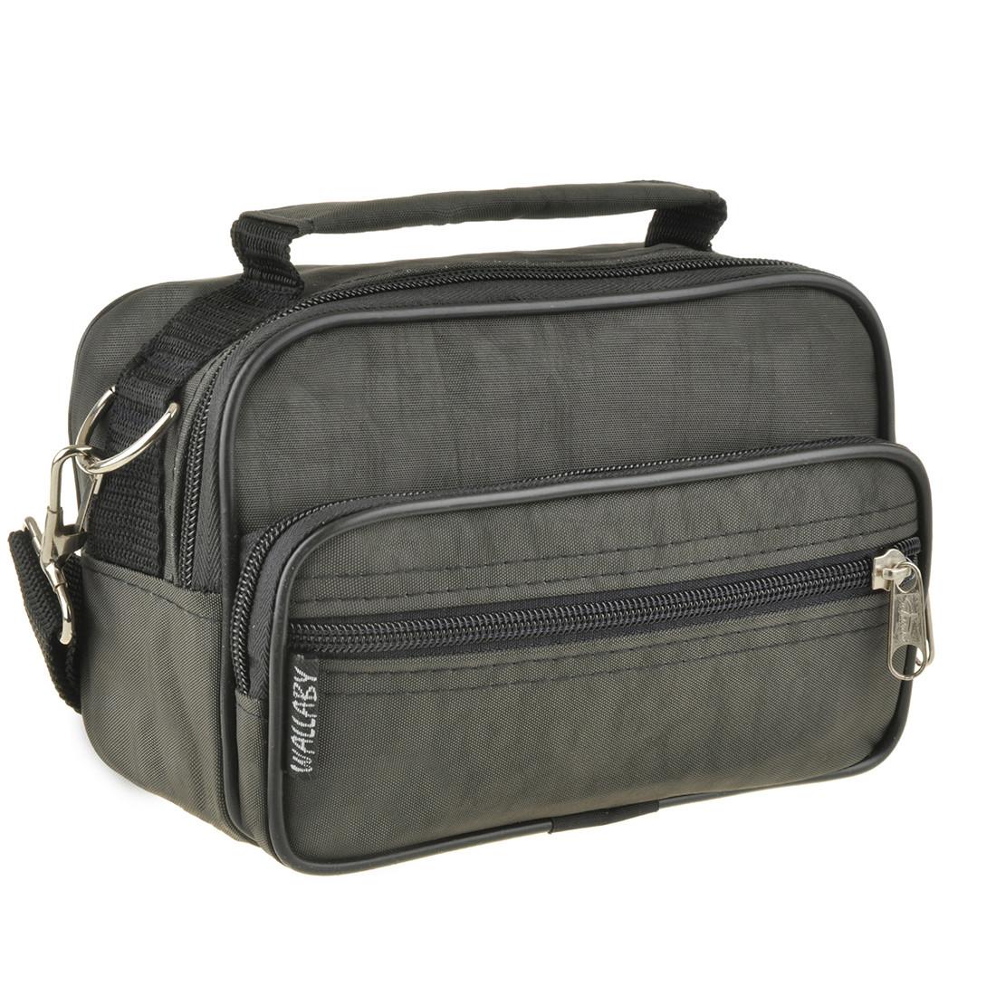 Мужская сумка-барсетка Wallaby ткань кринкл хаки 18х13х8,5   в 2663х