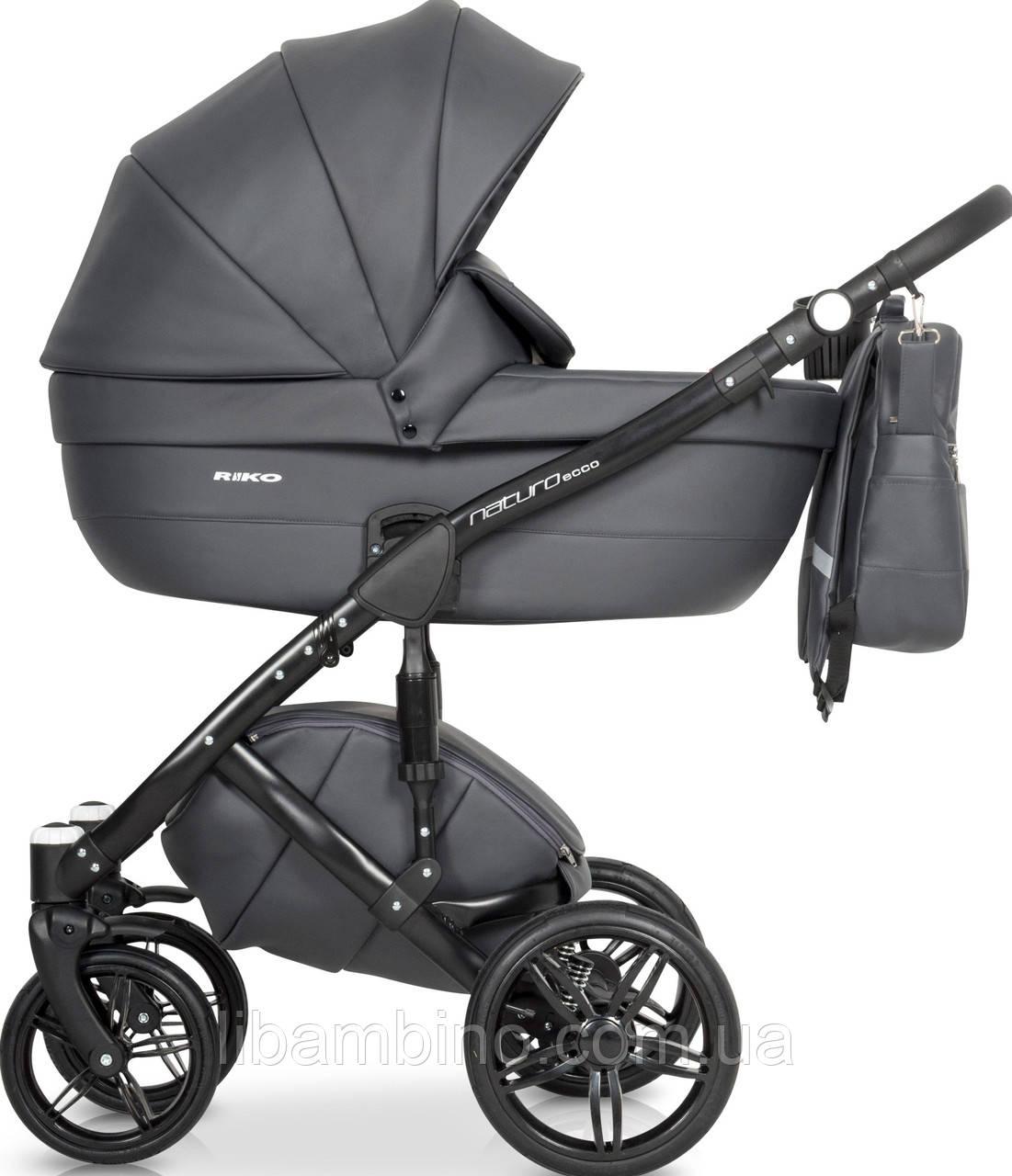 Дитяча універсальна коляска 2 в 1 Riko Naturo Ecco 04 Antracite