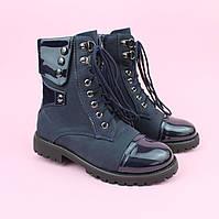 Демисезонные Ботинки синие для девочки тм Bi&Ki размер 35,36