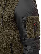 Мужская кофта с капюшоном, оливковый, фото 3